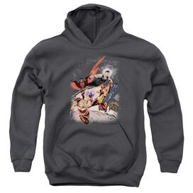 Jla Teen Titans #1 Youth Pull Over Hoodie