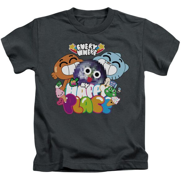 Amazing World Of Gumball Happy Place Short Sleeve Juvenile T-Shirt