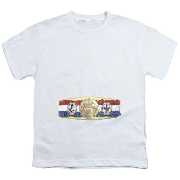 Rocky Championship Belt(Bottom Front) Short Sleeve Youth T-Shirt