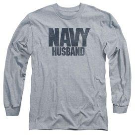 Navy Husband Long Sleeve Adult Athletic T-Shirt