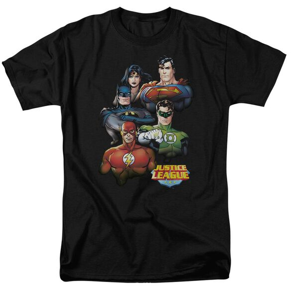 Jla Group Portrait Short Sleeve Adult T-Shirt