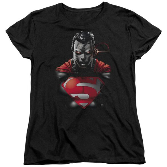 SUPERMAN HEAT VISION CHARGED - S/S WOMENS TEE - BLACK T-Shirt