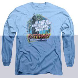 FAST TIMES RIDGEMONT HIGH TASTY WAVES - L/S ADULT 18/1 - CAROLINA BLUE - MD - CAROLINA T-Shirt