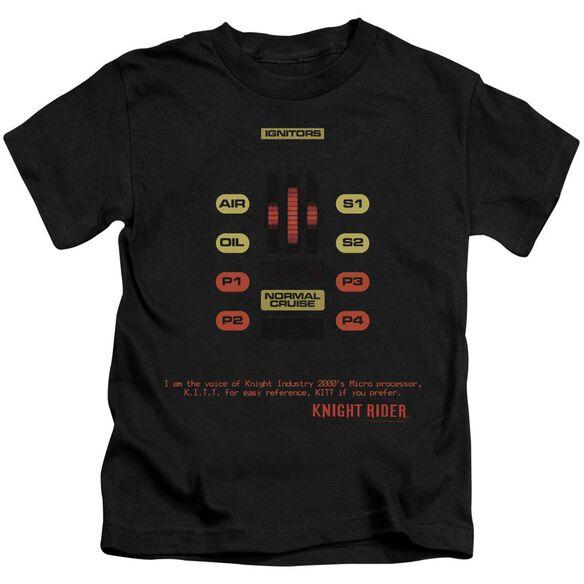 Knight Rider Kitt Consol Short Sleeve Juvenile Black Md T-Shirt