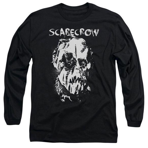 Batman Begins Scarecrow Face Long Sleeve Adult T-Shirt