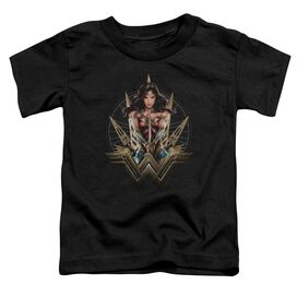 Wonder Woman Movie Wonder Blades Short Sleeve Toddler Tee Black T-Shirt
