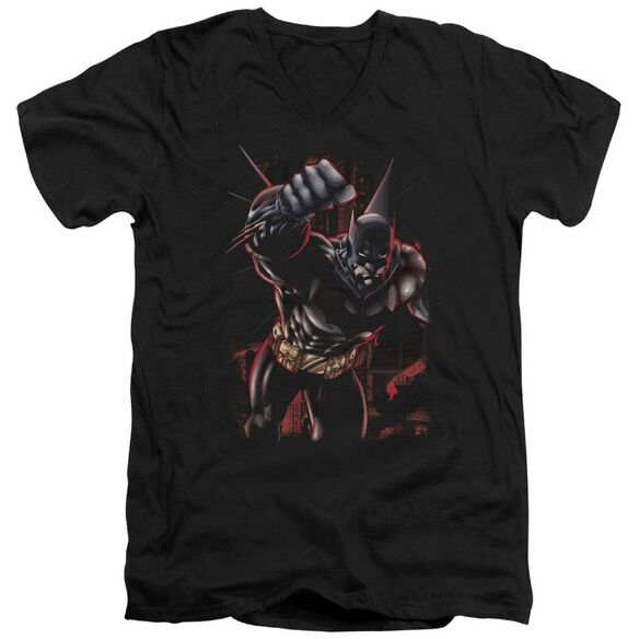 Batman Crimson Knight Short Sleeve Adult V Neck T-Shirt