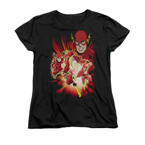 Jla Speed Force Short Sleeve Womens Tee T-Shirt