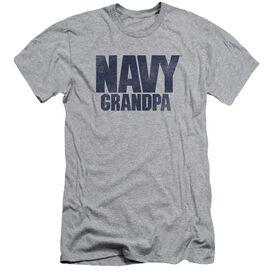 Navy Grandpa Short Sleeve Adult Athletic T-Shirt