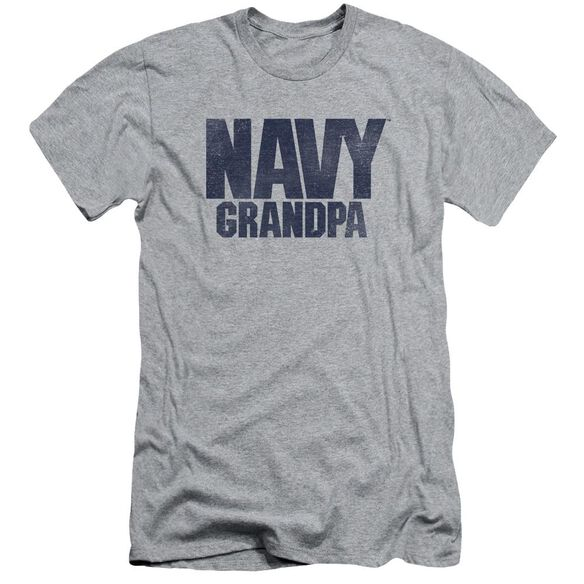 Navy Grandpa Short Sleeve Adult Athletic T-Shirt