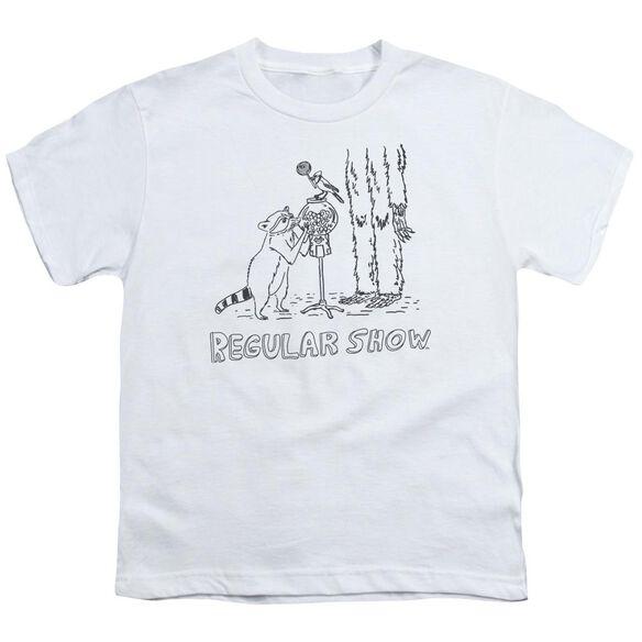 The Regular Show Tattoo Art Short Sleeve Youth T-Shirt