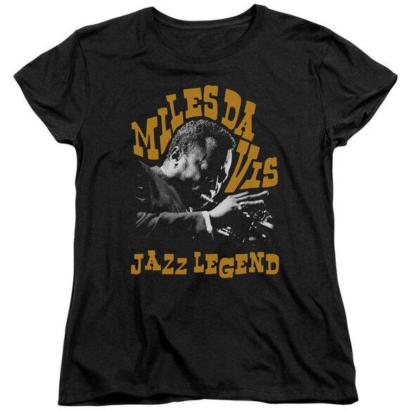 Miles Davis Jazz Legend Short Sleeve Womens Tee T-Shirt