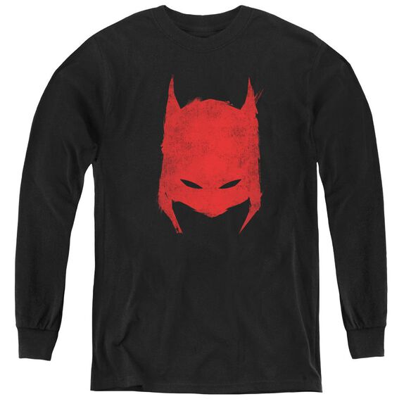 Batman Hacked & Scratched - Youth Long Sleeve Tee - Black