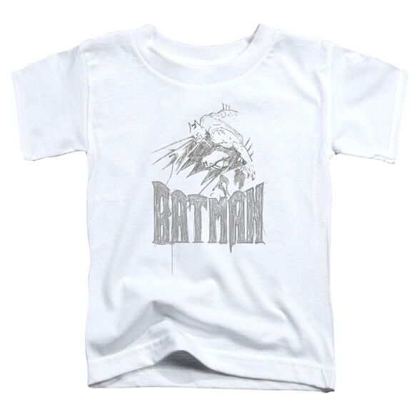 Batman Knight Sketch Short Sleeve Toddler Tee White Md T-Shirt