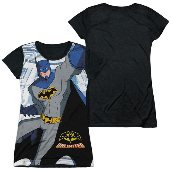 Batman Unlimited Tech Cave Short Sleeve Junior Poly Black Back T-Shirt