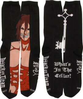 Attack on Titan Shift Cellar 2 Pair Crew Socks Set
