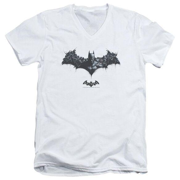 Batman Arkham Origins Bat Of Enemies Short Sleeve Adult V Neck T-Shirt