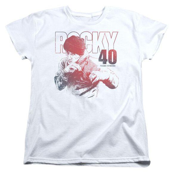 Rocky 40 Years Strong Short Sleeve Womens Tee T-Shirt