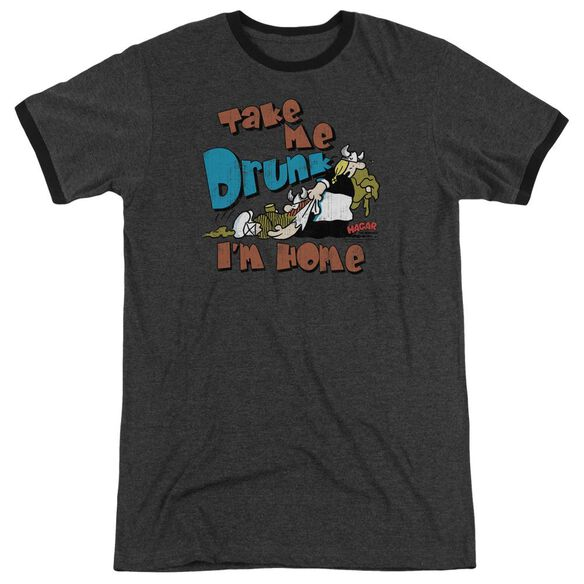 Hagar The Horrible Take Me Home Adult Heather Ringer Charcoal