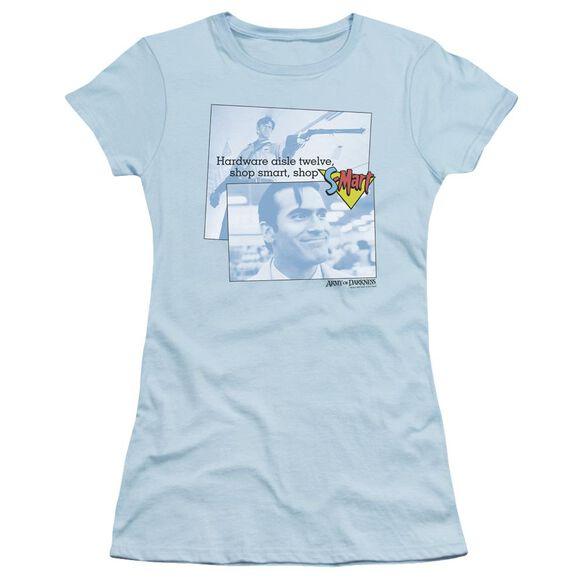 Army Of Darkness Shop S Mart Short Sleeve Junior Sheer Light T-Shirt
