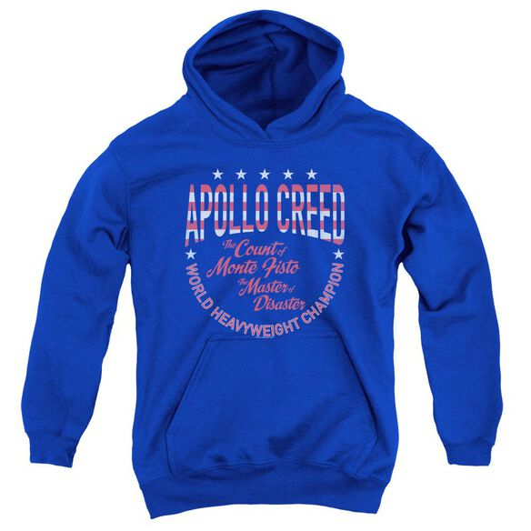 Rocky Count Of Monte Fisto Youth Pull Over Hoodie Royal