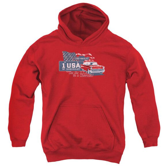 Chevrolet See The Usa Youth Pull Over Hoodie