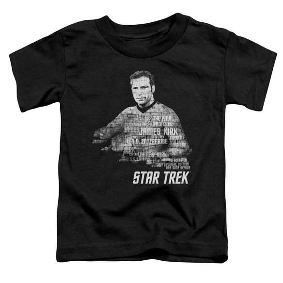 Star Trek Kirk Words Short Sleeve Toddler Tee Black Md T-Shirt