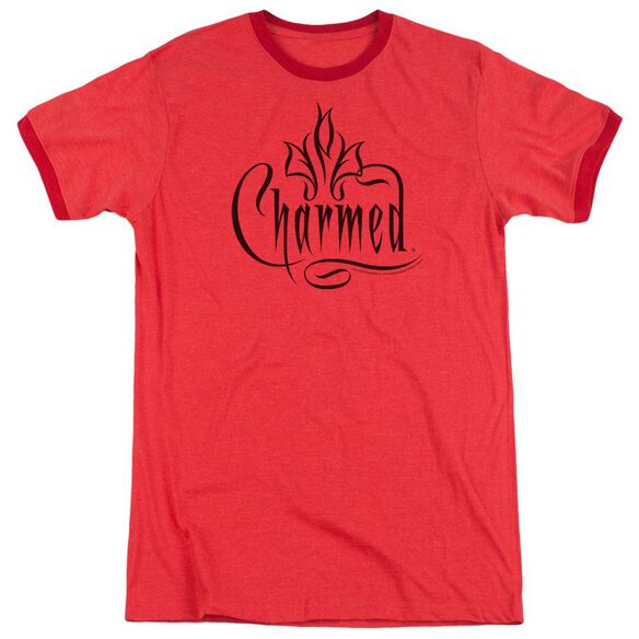 Charmed Charmed Logo Adult Heather Ringer Red
