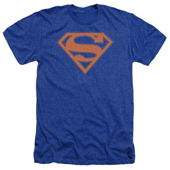 Superman & Orange Shield Adult Heather Royal