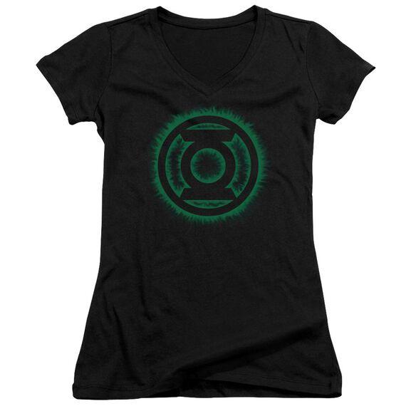 Green Lantern Green Flame Logo Junior V Neck T-Shirt