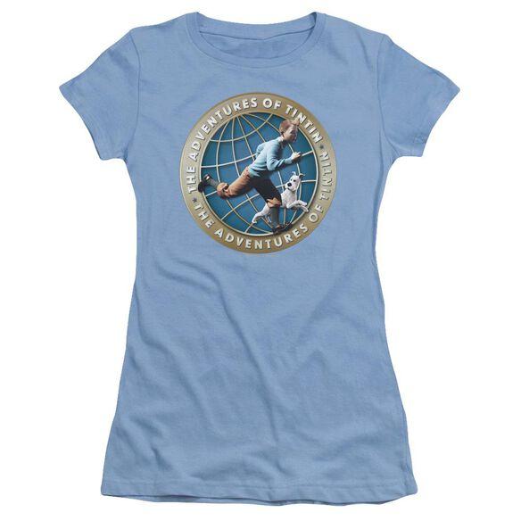 Tintin Around The Globe Short Sleeve Junior Sheer Carolina T-Shirt