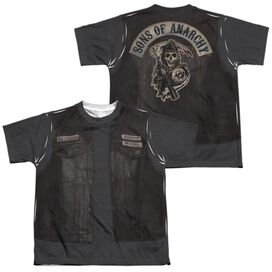 Sons Of Anarchy Juice Costume (Front Back Print) Short Sleeve Youth Poly Crew T-Shirt