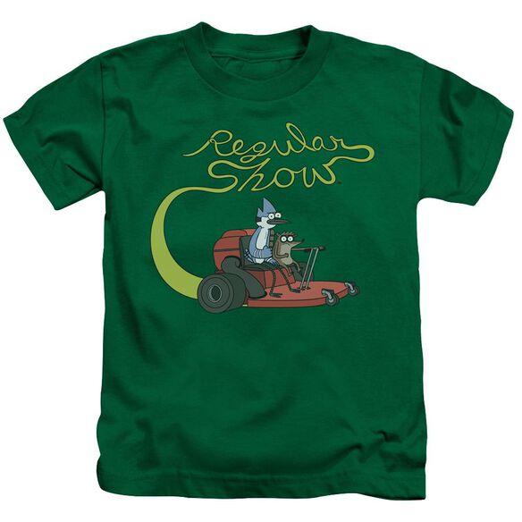 Regular Show Mower Short Sleeve Juvenile Kelly T-Shirt