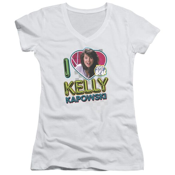Saved By The Bell I Love Kelly Junior V Neck T-Shirt