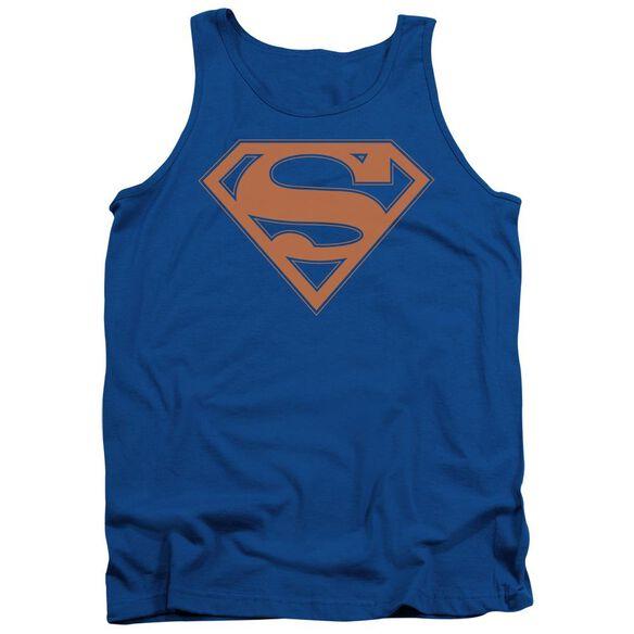 Superman & Orange Shield Adult Tank Royal