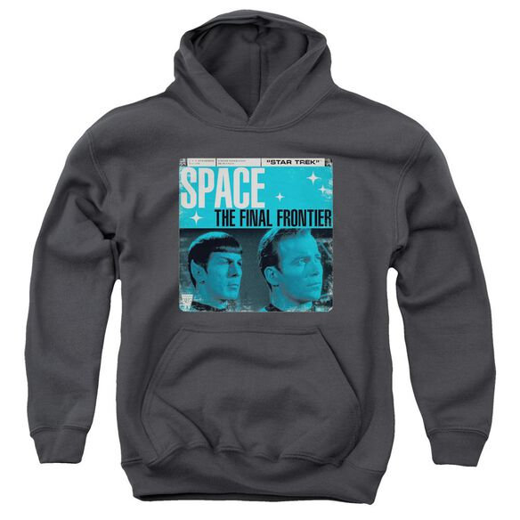 Star Trek Final Frontier Cover Youth Pull Over Hoodie
