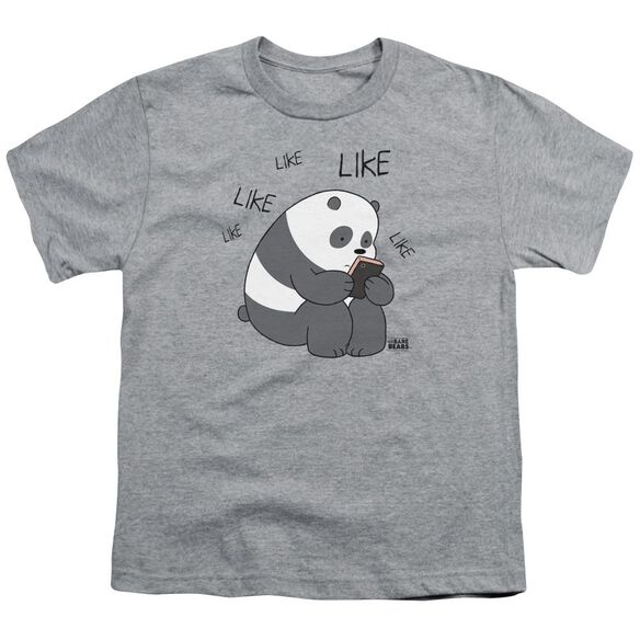 We Bare Bears Like Like Like Short Sleeve Youth Athletic T-Shirt