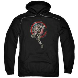 Justice League Movie Cyborg Adult Pull Over Hoodie