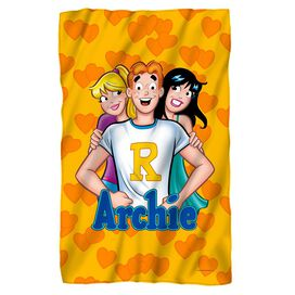 Archie Love Triangle Fleece Blanket