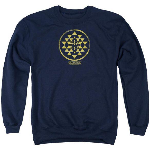 Bsg Gold Squadron Patch Adult Crewneck Sweatshirt