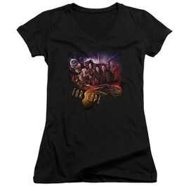 Farscape Graphic Collage Junior V Neck T-Shirt