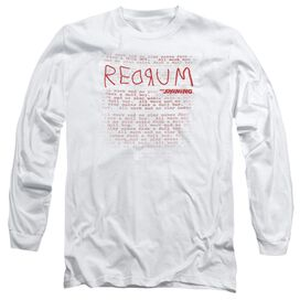 The Shining Redrum Long Sleeve Adult T-Shirt