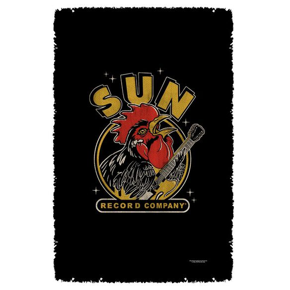 Sun Rocking Rooster Woven Throw