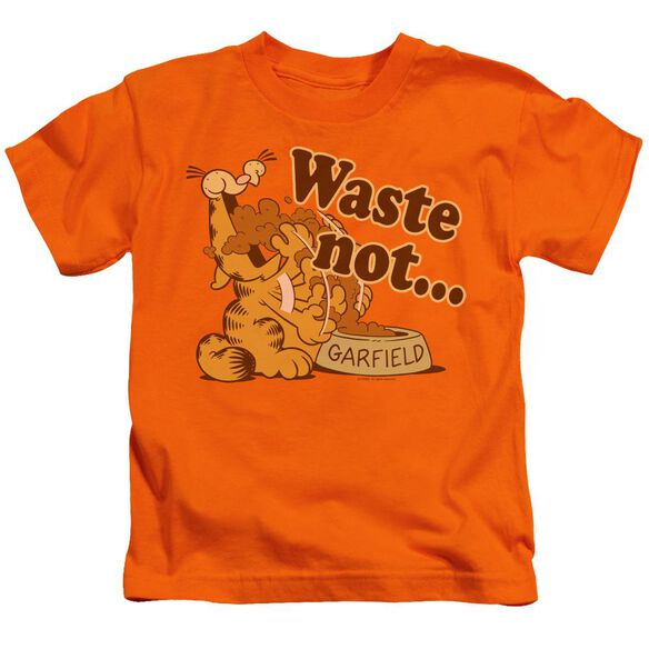 Garfield Waste Not Short Sleeve Juvenile Orange Md T-Shirt