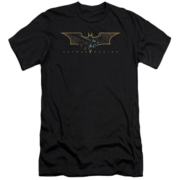Batman Begins Coming Through Short Sleeve Adult T-Shirt