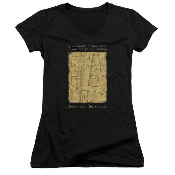 Harry Potter Marauders Map Interior Words Junior V Neck T-Shirt