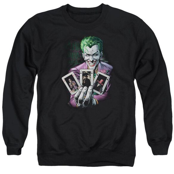 Batman 3 Of A Kind Adult Crewneck Sweatshirt