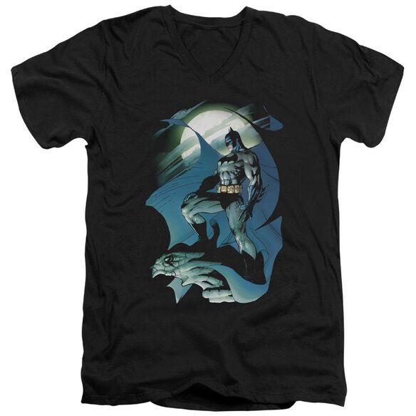 Batman Glow Of The Moon Short Sleeve Adult V Neck T-Shirt