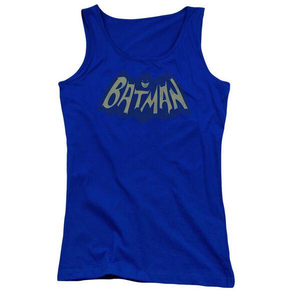 Batman Show Bat Logo Juniors Tank Top Royal