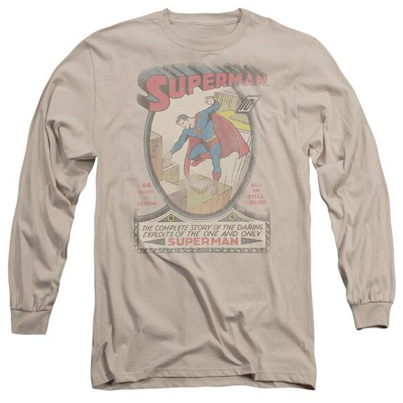 Dc Superman 1 Distressed Long Sleeve Adult T-Shirt